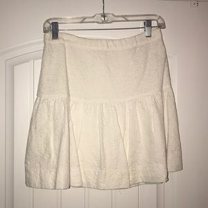 JCrew White Matelasse Drop Waist Skirt, Size 2